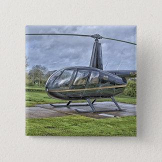 De helikopter van Robinson R44 Vierkante Button 5,1 Cm