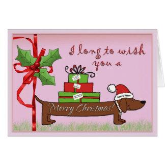 De Helper van de kerstman Wenskaart