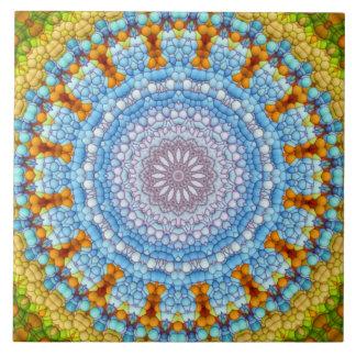 """De """"hemel binnen"""" Tegel Mandala Tegeltje Vierkant Large"""