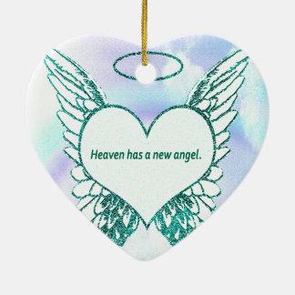 De hemel heeft een Nieuwe Engel Keramisch Hart Ornament