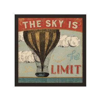 De Hemel van de Ballon van de hete Lucht is het Hout Afdruk