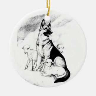 De Hemel van de hond, de Troep van de Meester Rond Keramisch Ornament