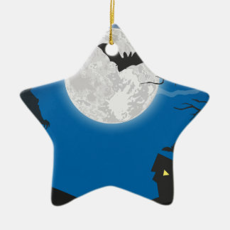 De hemel van het maanlicht keramisch ster ornament