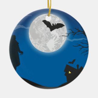 De hemel van het maanlicht rond keramisch ornament