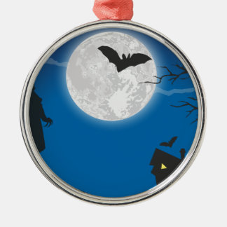 De hemel van het maanlicht zilverkleurig rond ornament