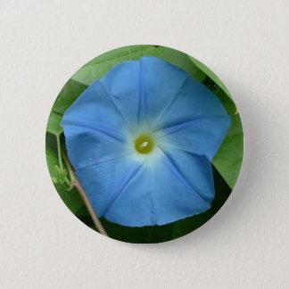 De hemelse Blauwe Glorie van de Ochtend Ronde Button 5,7 Cm