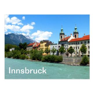 De Herberg van de rivier in Innsbruck Briefkaart