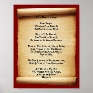 De Herberg van de Soepen van het Gebed van het bie Poster
