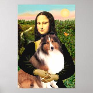 De Herdershond van Shetland 7b - Mona Lisa Poster