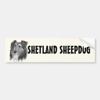 De Herdershond van Shetland (Sheltie) Bumpersticker