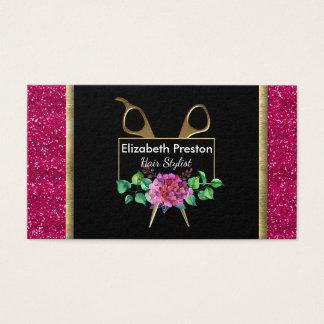 De herenkapper, Benoeming, Roze schittert Bloemen Visitekaartjes