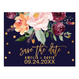 De herfst Bloemen sparen de Datum Briefkaart