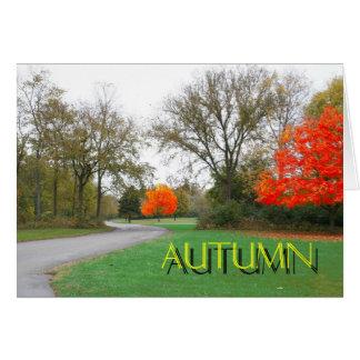De herfst briefkaarten 0