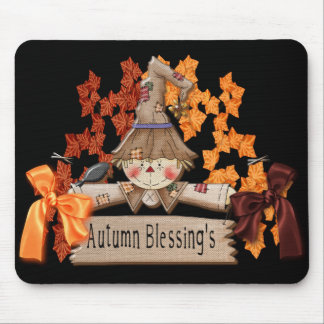de herfst het stootkussen van de zegenmuis muismatten