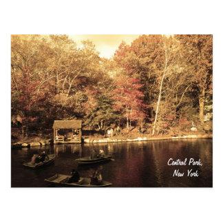 De herfst in Central Park Briefkaart