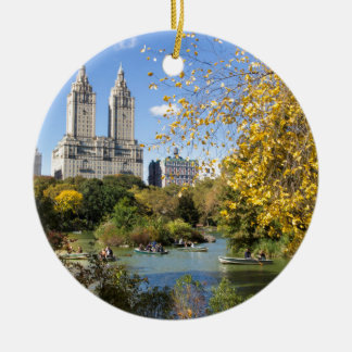 De herfst in New York, Thanksgiving Rond Keramisch Ornament