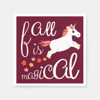 De herfst is het Magische Kastanjebruine Servet Wegwerp Servet