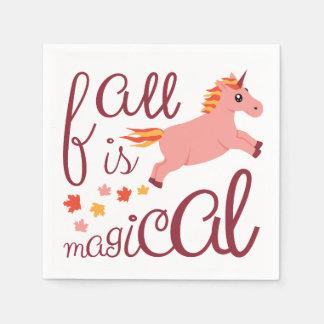 De herfst is het Magische Roze Servet van de Wegwerp Servet