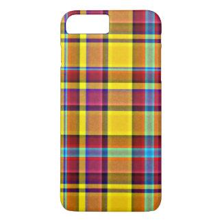 De herfst kleurt het Geruite Schotse wollen stof iPhone 8/7 Plus Hoesje