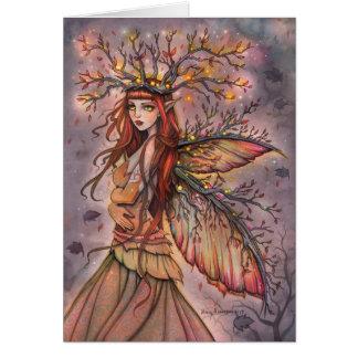 De herfst Koningin Fairy Fantasy Art Card Briefkaarten 0