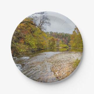 De Herfst van de Vork van hefbomen Papieren Bordje