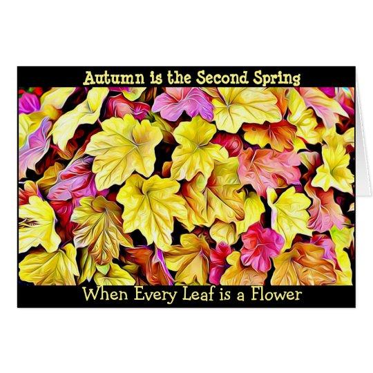 De Herfst van het Citaat van de herfst verlaat Briefkaarten 0