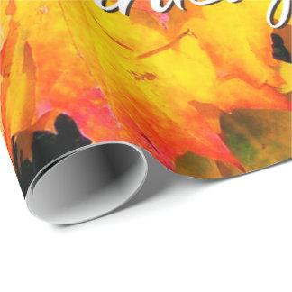 De herfst verlaat 7 het Gelukkige Verpakkende Cadeaupapier