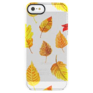 De herfst verlaat patroon doorzichtig iPhone SE/5/5s hoesje