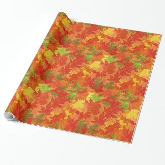 De herfst verlaat patroon inpakpapier