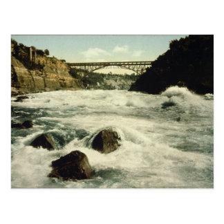 De Herfsten New York 1898 van Niagara van de Briefkaart