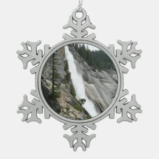 De Herfsten van Nevada bij Nationaal Park Yosemite Tin Sneeuwvlok Ornament