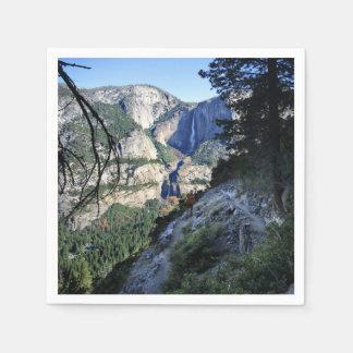 De Herfsten van Yosemite van de Sleep van Vier Wegwerp Servet