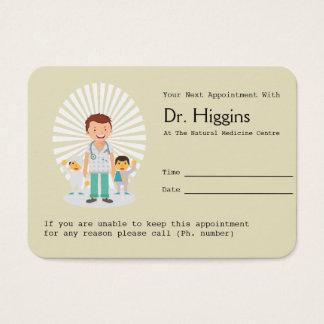 De Herinnering van de Benoeming van de huisarts Visitekaartjes