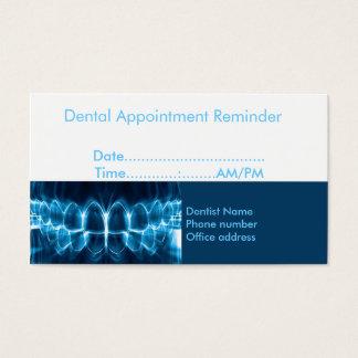 De Herinnering van de Benoeming van de tandarts Visitekaartjes