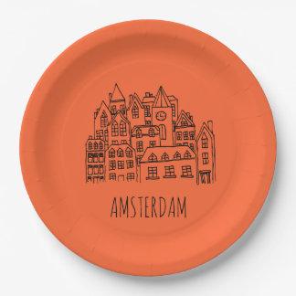 De Herinnering van de Stad van Amsterdam Nederland Papieren Bordje