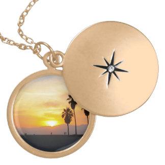 De Herinnering van de Zonsondergang van Californië Goud Vergulden Ketting