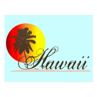 De Herinnering van de Zonsondergang van Hawaï Briefkaart