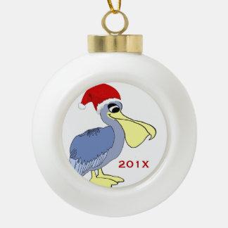 De Herinnering van Kerstmis van de Kerstman van de Keramische Bal Ornament