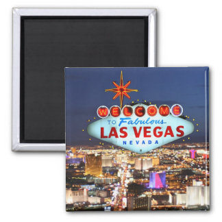 De Herinnering van Las Vegas Vierkante Magneet