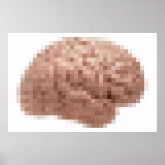 De Hersenen van het pixel Poster