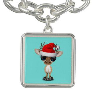 De Herten die van het baby een Pet van de Kerstman Armbandjes