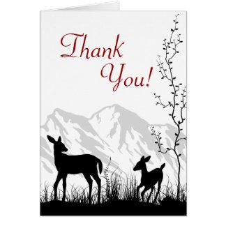 De Herten en de Bergen van het silhouet danken u Kaart