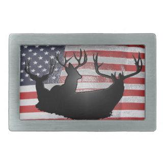 De herten van de bok op Amerikaanse vlag Gesp