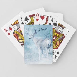 De Herten van de winter en het Monogram van de Pokerkaarten