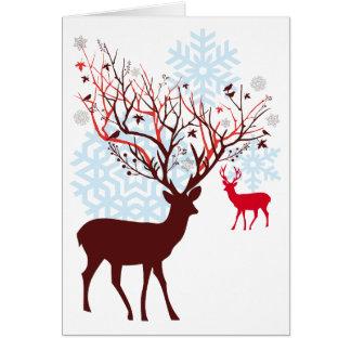De Herten van Kerstmis met de geweitakken van de Briefkaarten 0