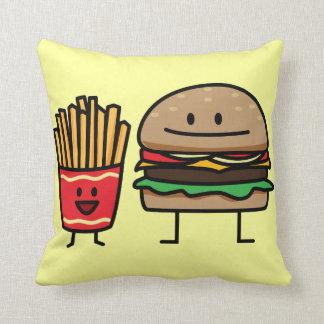 De het broodjestroep van de hamburger en van het sierkussen