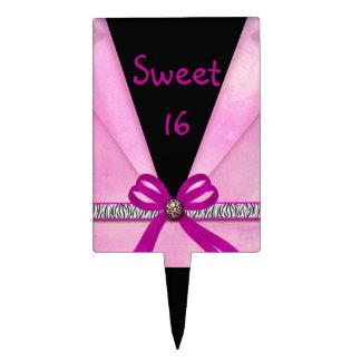 De het dierlijke Roze & Zwarte van de Druk vouwden Cake Toppers