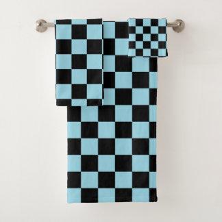 De het geruite Blauw en Zwarte van de Pastelkleur Bad Handdoek