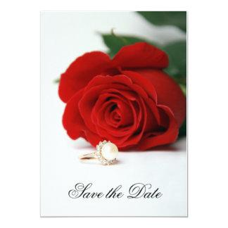 De het huwelijkskaart van de uitnodiging, Rood Kaart