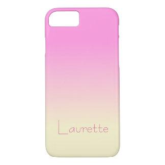 De het klantgerichte Eenvoudige Roze van het Snoep iPhone 8/7 Hoesje